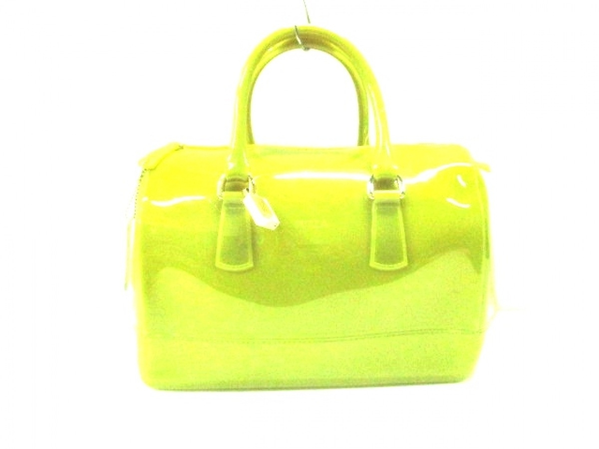 FURLA(フルラ) ハンドバッグ キャンディバッグ ライトグリーン PVC(塩化ビニール)【中古】