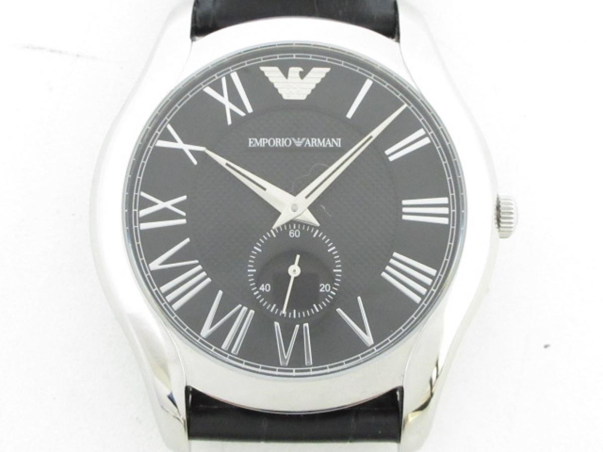 EMPORIOARMANI(アルマーニ) 腕時計美品■ AR-1703 メンズ 黒【中古】