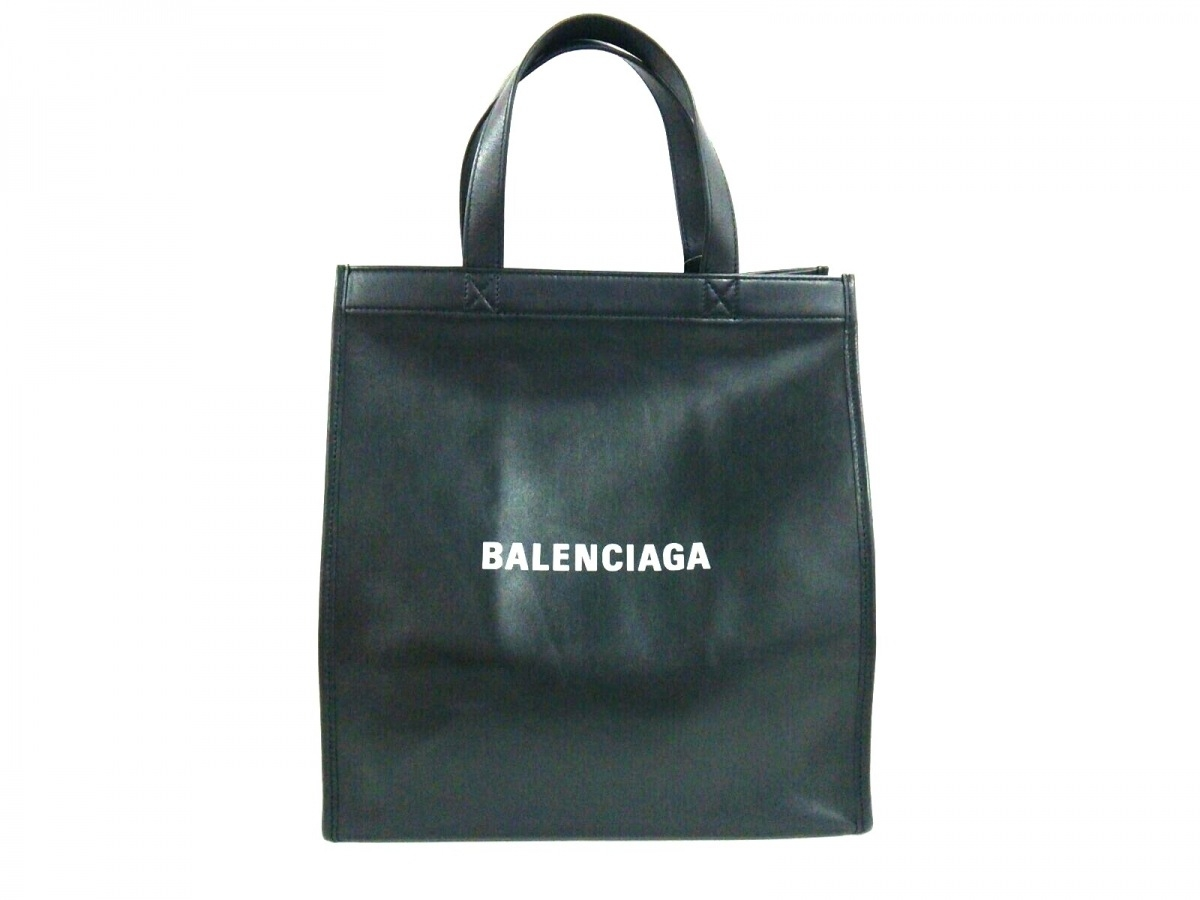 BALENCIAGA(バレンシアガ) トートバッグ美品■ - 541842 黒×白 レザー【中古】