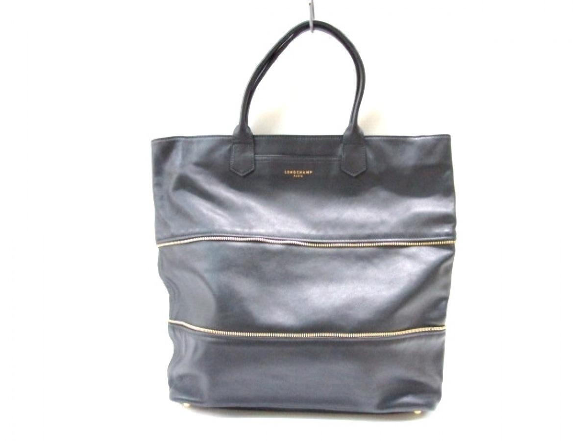 LONGCHAMP(ロンシャン) ハンドバッグ美品■ 黒 レザー【中古】
