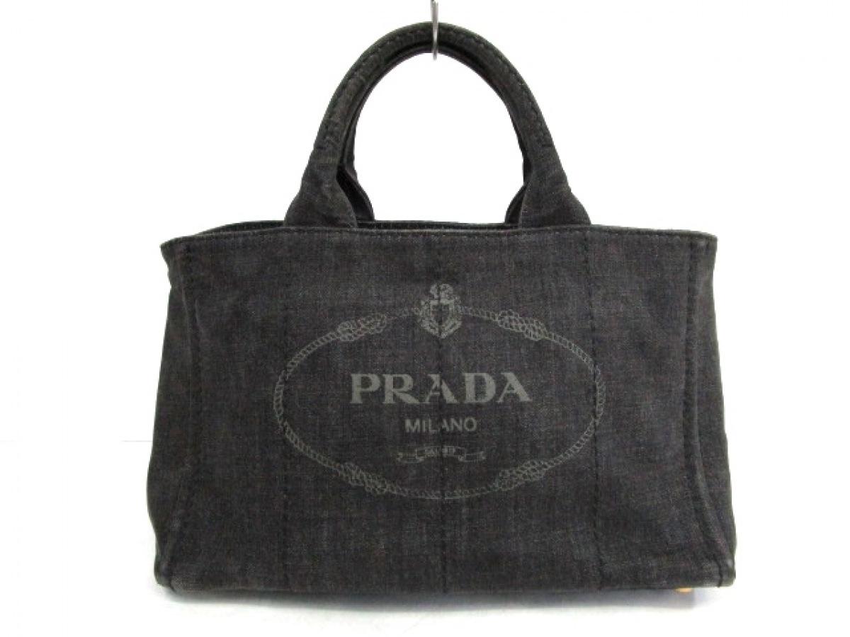 PRADA(プラダ) トートバッグ CANAPA B2642B ダークグレー デニム【中古】
