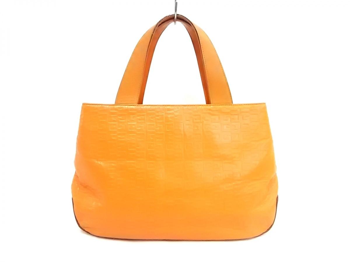 GIVENCHY(ジバンシー) ハンドバッグ - オレンジ 型押し加工 レザー【中古】