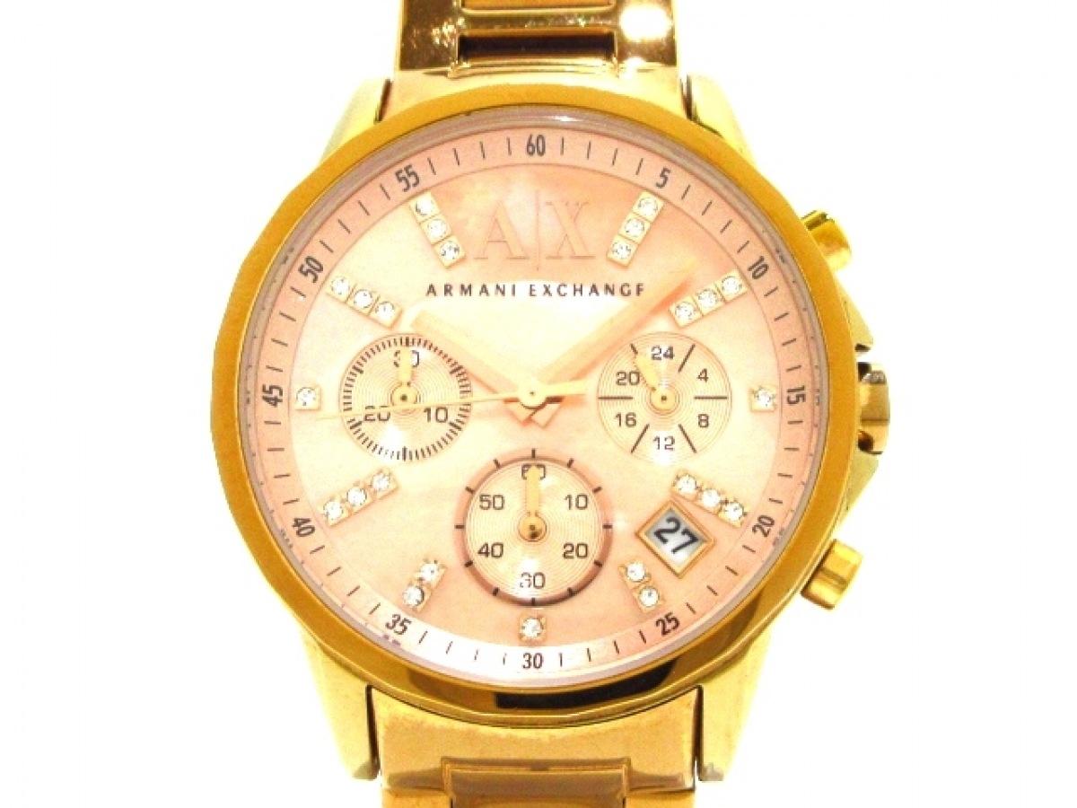 ARMANIEX(アルマーニEX) 腕時計 AX4326 レディース シェルピンク【中古】