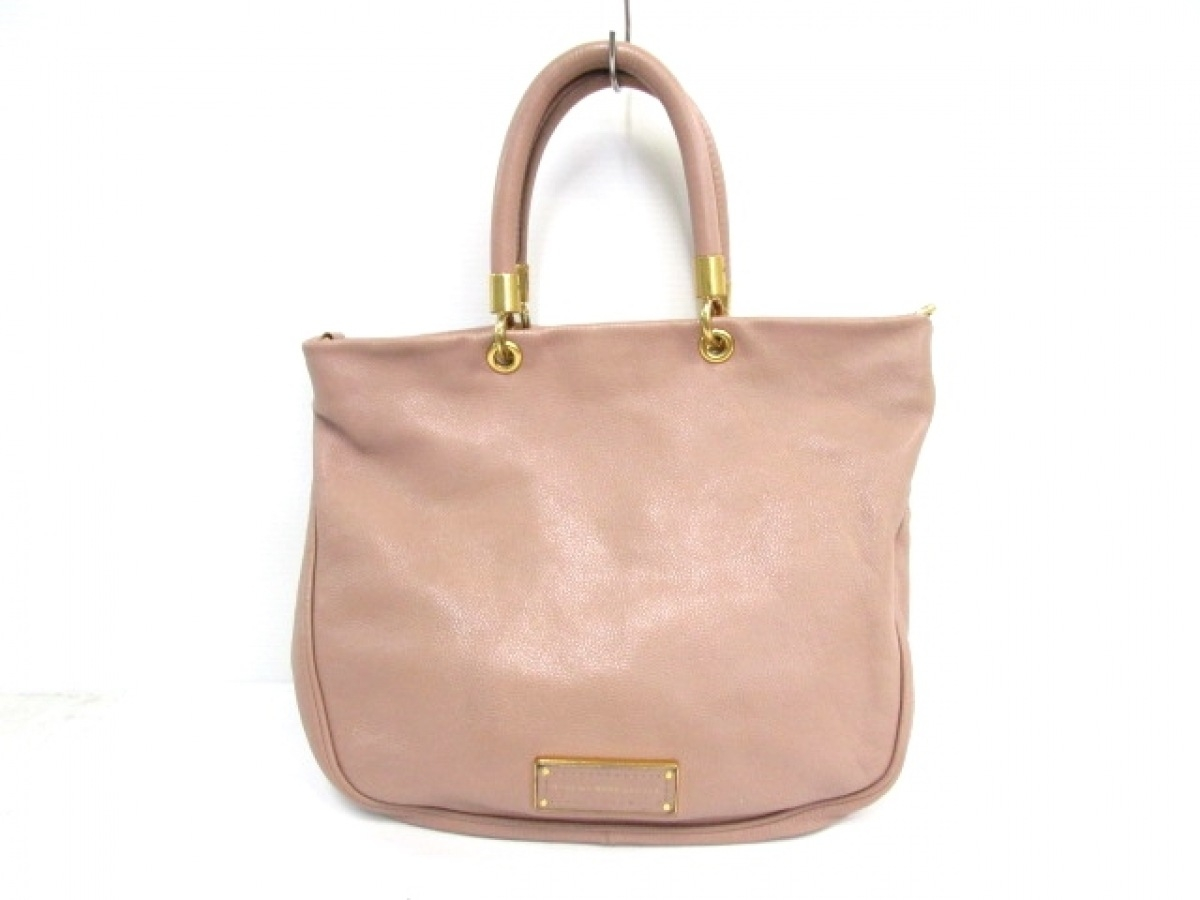 MARC BY MARC JACOBS(マークバイマークジェイコブス) ハンドバッグ - ピンク レザー【中古】