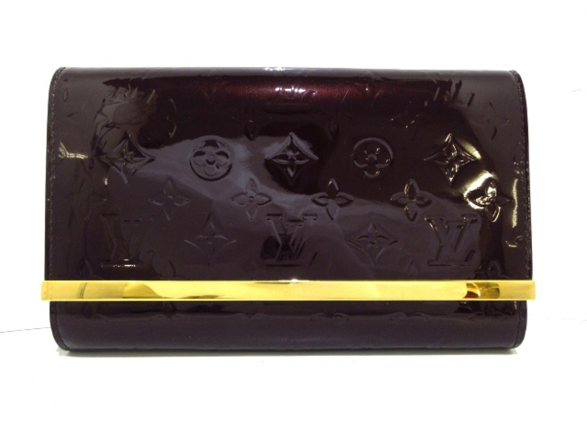 LOUIS VUITTON(ルイヴィトン) クラッチバッグ モノグラムヴェルニ クラッチ・アナ M90093 アマラント モノグラム・ヴェルニレザー【中古】