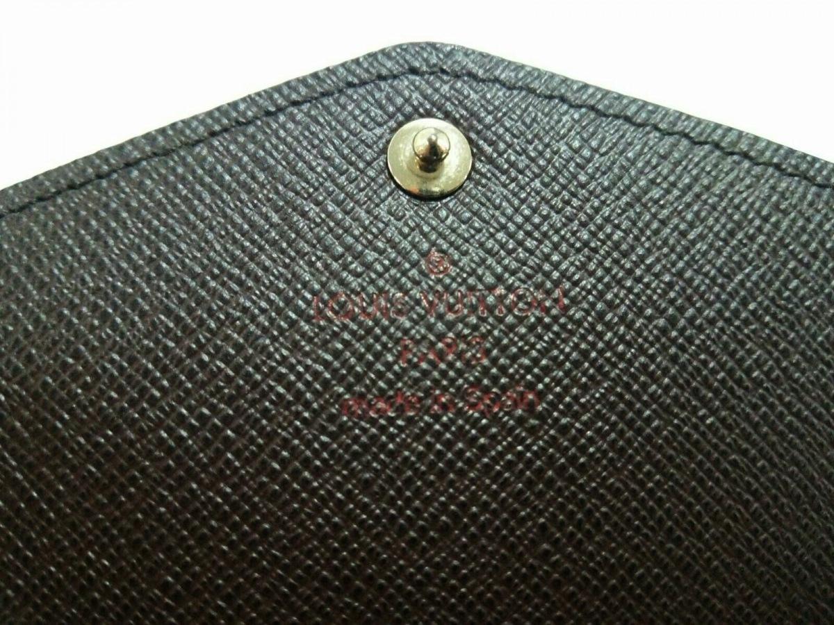 LOUIS VUITTON ルイヴィトン長財布 ダミエ美品ポルトフォイユ・サラ N63209 エベヌ ダミエ・キャンバスCoQBrdeWEx
