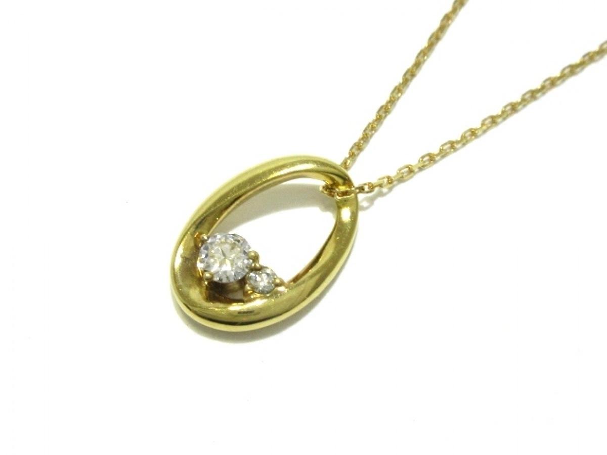 4℃(ヨンドシー) ネックレス美品■ K18YG×ダイヤモンド 総重量3.4g/0.199カラット【中古】