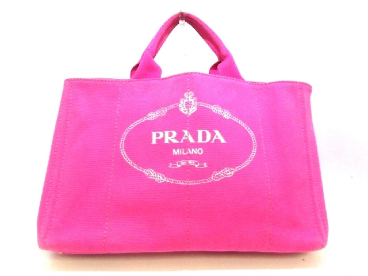 PRADA(プラダ) トートバッグ CANAPA B1872G ピンク キャンバス【中古】