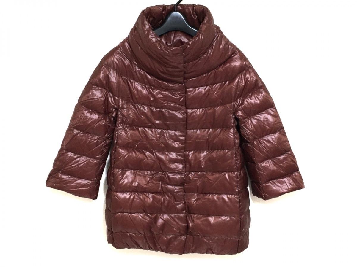 HERNO(ヘルノ) ダウンジャケット サイズ38 S レディース美品■ ダークブラウン 冬物【中古】