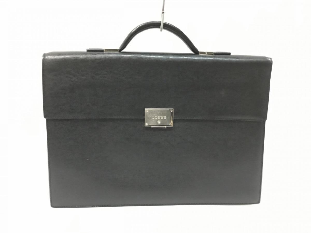 LOEWE(ロエベ) ビジネスバッグ - 350.30.004 黒 レザー【中古】