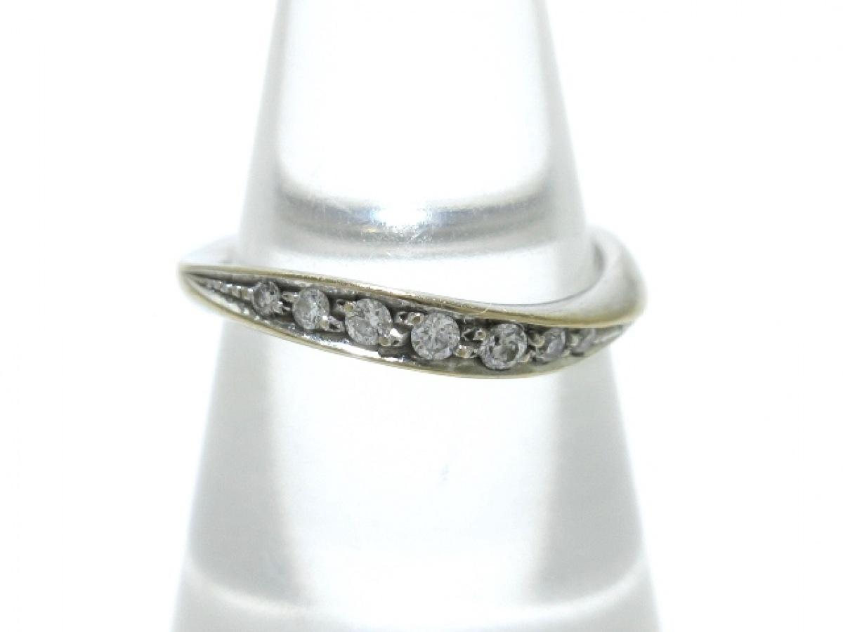 4℃(ヨンドシー) リング K18WG×ダイヤモンド 総重量2.6g【中古】