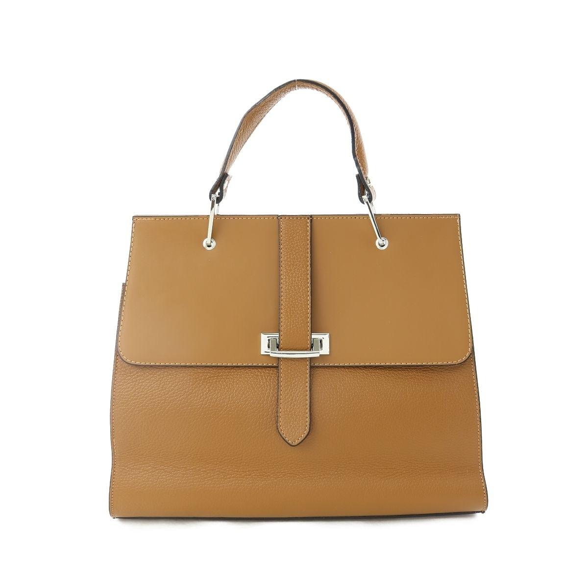 LUSY Leather Handbags(ルーシーレザーハンドバッグ) ハンドバッグ ONESIZE新品未使用■ ブラウン系 ハンドバッグ 本革【中古】
