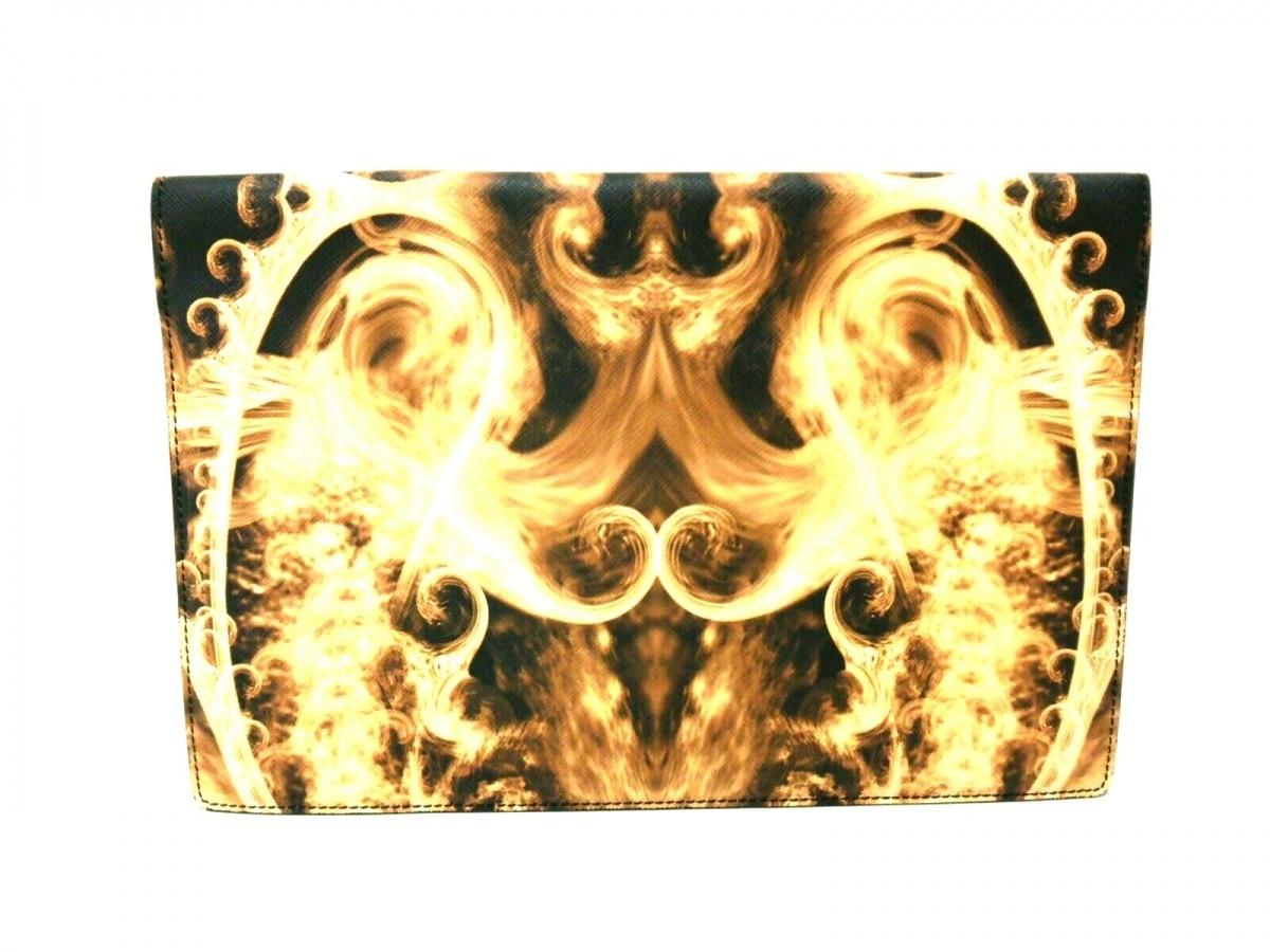 GIVENCHY(ジバンシー) クラッチバッグ美品■ - 黒×アイボリー×ライトブラウン PVC(塩化ビニール)【中古】