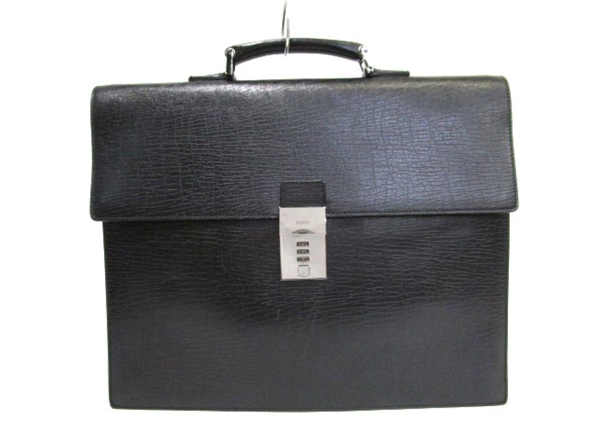 GUCCI(グッチ) ビジネスバッグ - 34045 黒 ロックナンバー「000」 レザー【中古】