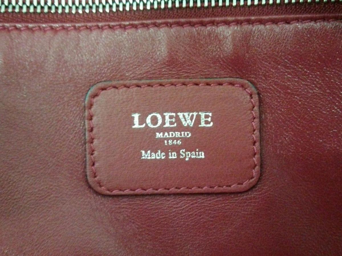 LOEWE ロエベハンドバッグ美品アマソナ36 352 69LA22 ピンク×パープル×ベージュ レザーnwm8Nv0