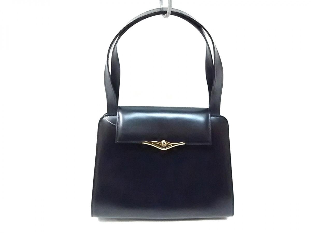 Cartier(カルティエ) ハンドバッグ美品■ サファイアライン 黒 レザー【中古】
