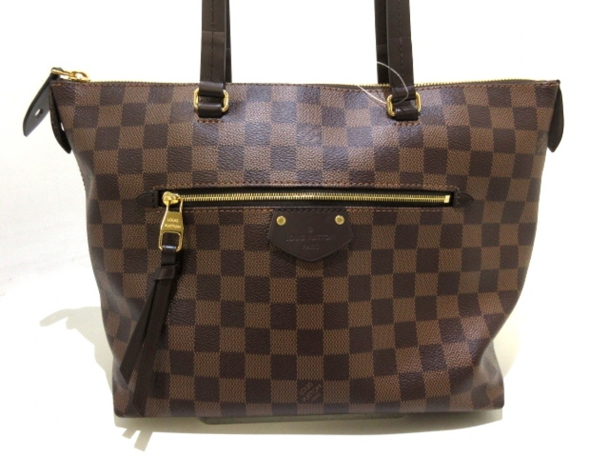 LOUIS VUITTON(ルイヴィトン) トートバッグ ダミエ美品■ イエナ PM N41012 エベヌ ダミエ・キャンバス【中古】