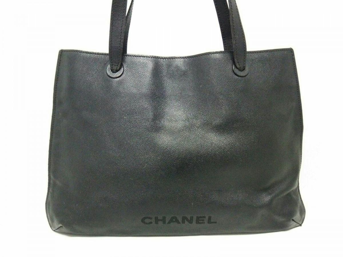 CHANEL(シャネル) トートバッグ - 黒 レザー【中古】