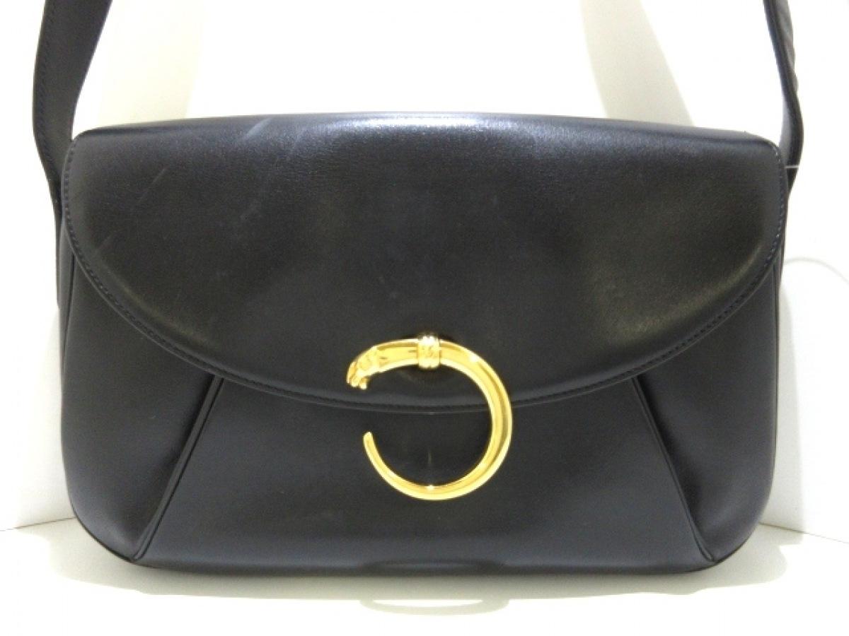 Cartier(カルティエ) ショルダーバッグ パンテール 黒 レザー【中古】