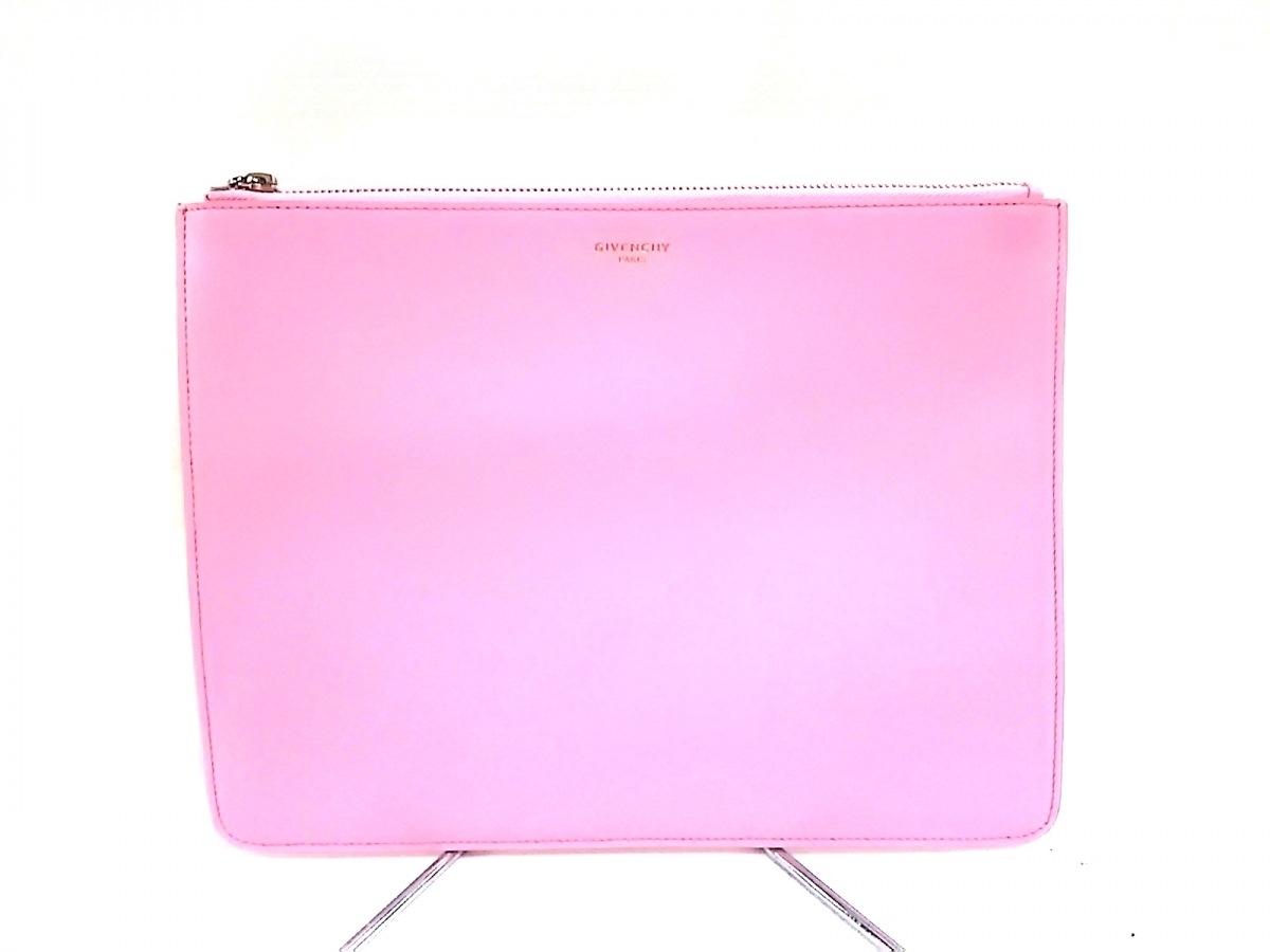 GIVENCHY(ジバンシー) クラッチバッグ美品■ - ピンク レザー【中古】
