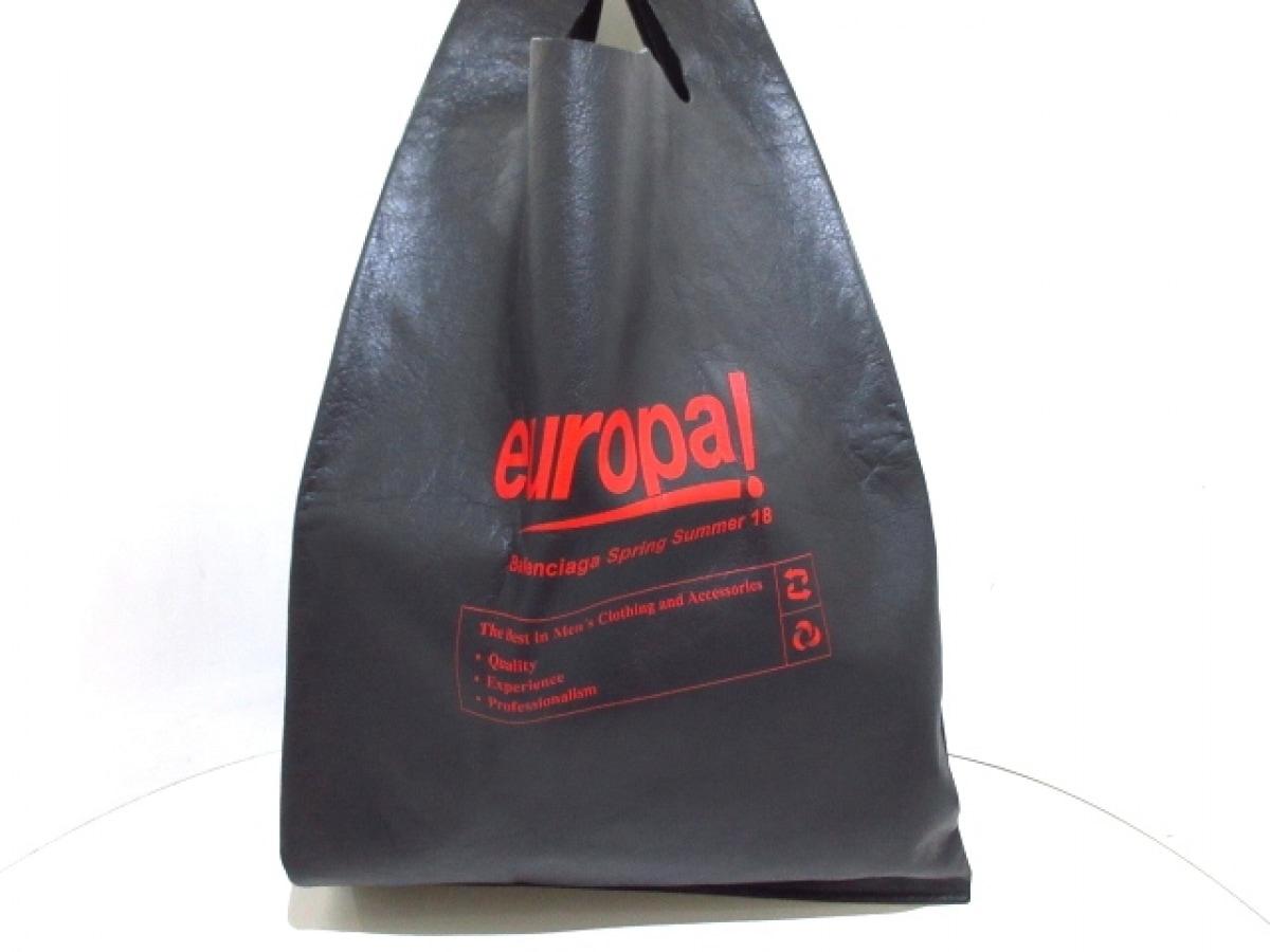 BALENCIAGA(バレンシアガ) トートバッグ新品同様■ - 506781 黒×レッド レザー【中古】