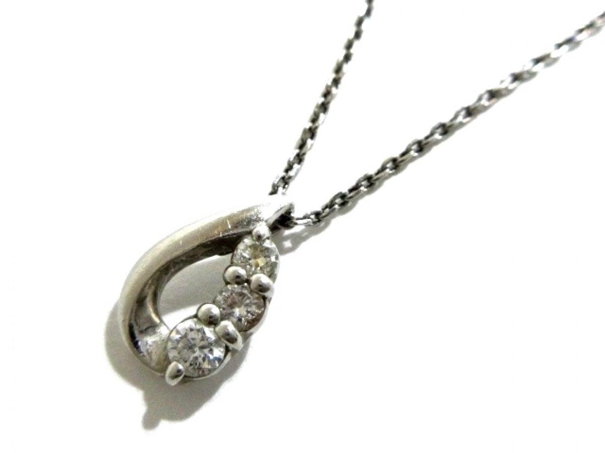 4℃(ヨンドシー) ネックレス美品■ Pt850×ダイヤモンド 3Pダイヤ【中古】