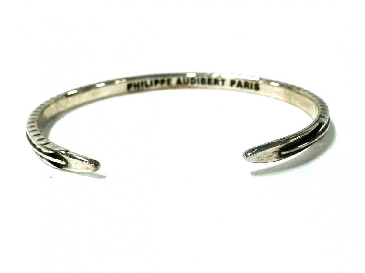 PHILIPPE AUDIBERT フィリップオーディベールバングル金属素材 シルバーQCsBrhdtx