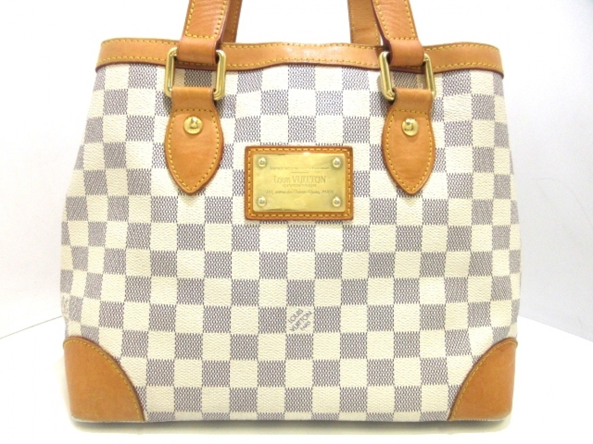 LOUIS VUITTON(ルイヴィトン) トートバッグ ダミエ ハムプステッドPM N51207 アズール ダミエ・キャンバス【中古】