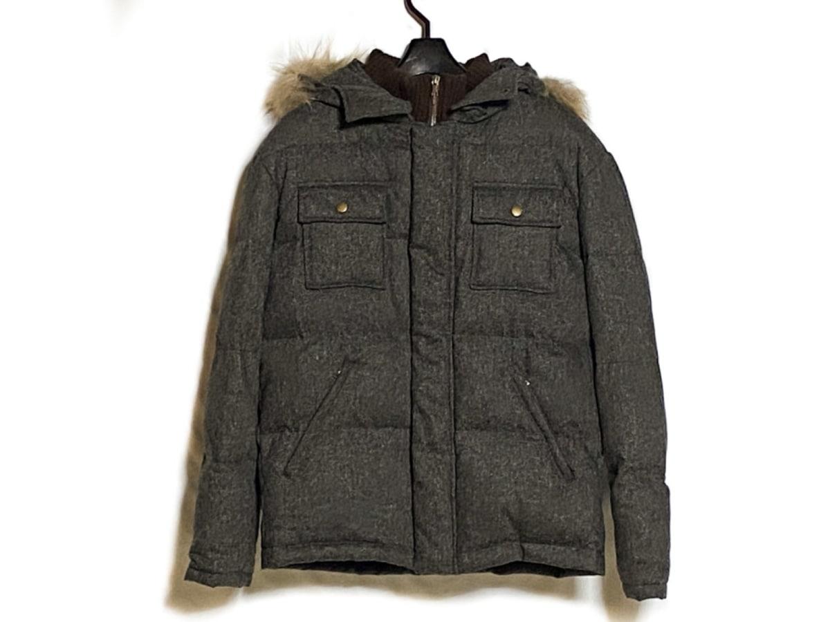 PaulSmith(ポールスミス) ダウンジャケット サイズM メンズ美品■ ダークグレー×ダークブラウン 冬物【中古】
