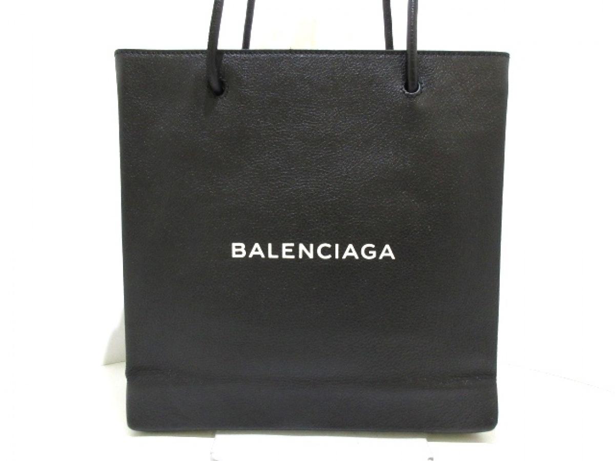 BALENCIAGA(バレンシアガ) トートバッグ ショッピング トート 491660 黒 レザー【中古】