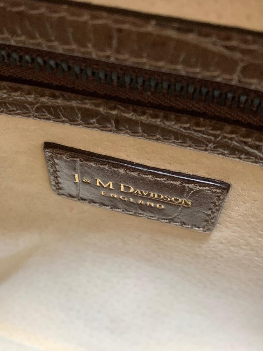 J MDavidson ジェイ エムデヴィッドソンハンドバッグ ヴィヴィ ダークブラウン 型押し加工 レザーkOPXZ0N8wn