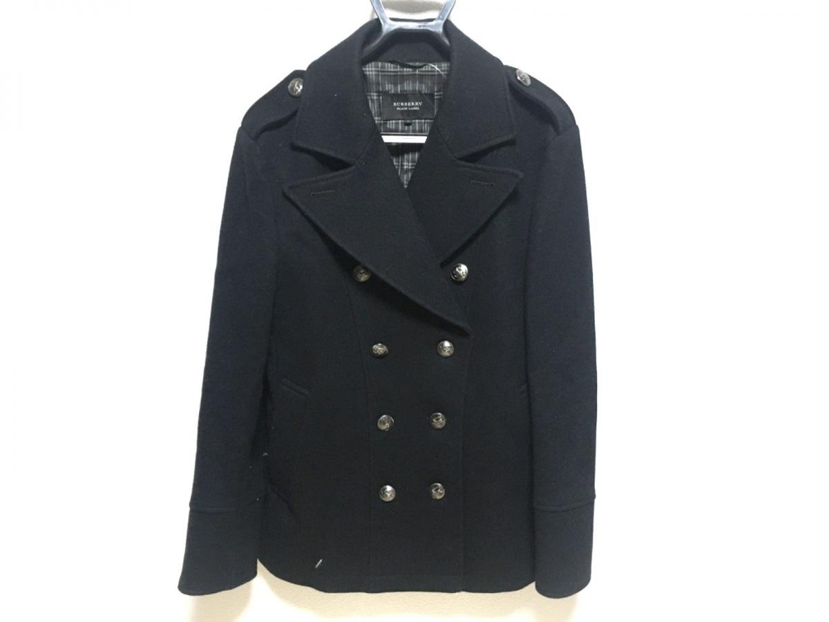 Burberry Black Label(バーバリーブラックレーベル) コート サイズL メンズ - 黒 長袖/冬【中古】