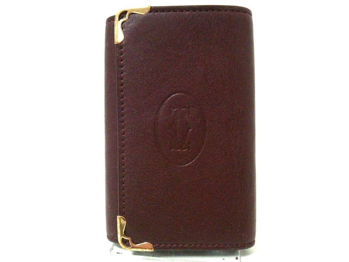 Cartier(カルティエ) キーケース マストライン L3001358 ボルドー 6連フック レザー【中古】