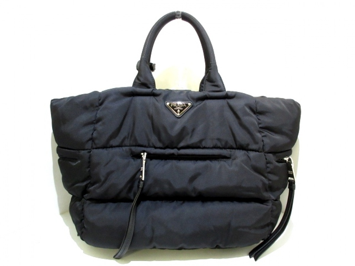 PRADA(プラダ) ハンドバッグ美品■ - 黒 ナイロン【中古】