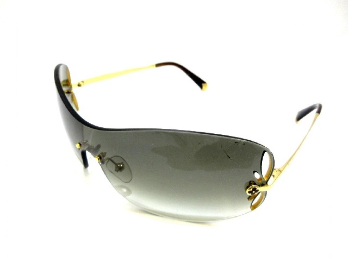 LOUIS VUITTON(ルイヴィトン) サングラス リリー Z0540U ダークブラウン×ゴールド プラスチック×金属素材【中古】