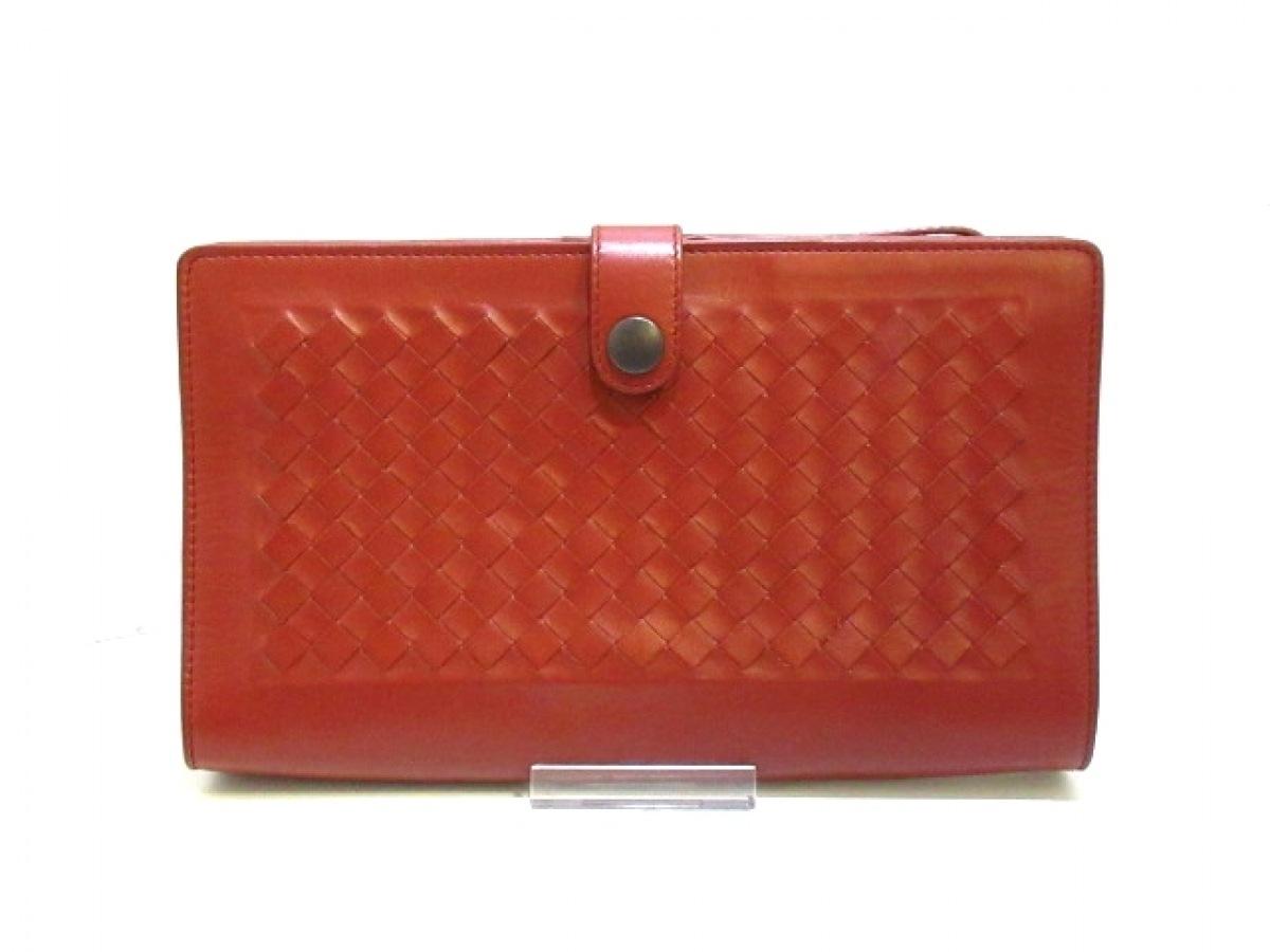 BOTTEGA VENETA(ボッテガヴェネタ) 財布 イントレチャート B03521012Z ブラウン レザー【中古】