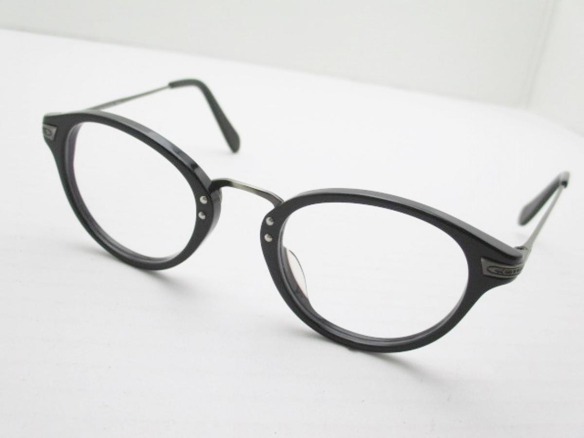 OLIVER PEOPLES(オリバーピープルズ) メガネ - OV5028 クリア×黒×シルバー 度入り プラスチック×金属素材【中古】