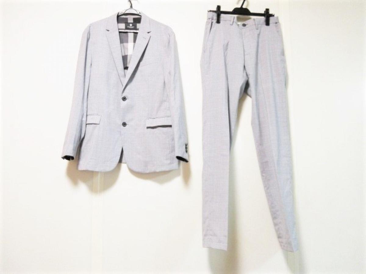 BLACK LABEL CRESTBRIDGE(ブラックレーベルクレストブリッジ) シングルスーツ サイズLL メンズ - ライトグレー【中古】
