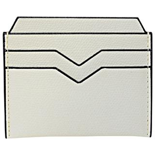 ヴァレクストラ 両面 カードケース 薄型 スリム フラット型 スマート V8L77 028 W PERGAMENA ホワイト  【あす楽対応_関東】