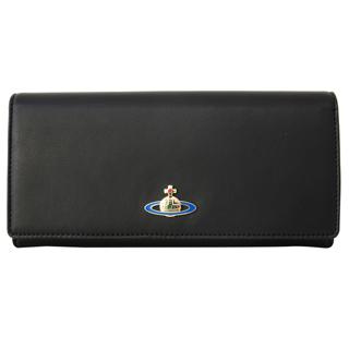 Vivienne Westwood ヴィヴィアンウエストウッド 51040001 N456 二つ折り長財布 かぶせ蓋 フラップ ウォレットNAPPA BLACK ブラック 黒【あす楽対応_関東】