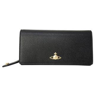 Vivienne Westwood ヴィヴィアンウエストウッド 51060001 40153 N459 二つ折り 長財布 かぶせ蓋 フラップ ウォレット  BLACK ブラック 黒【あす楽対応_関東】