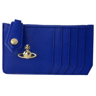Vivienne Westwood ヴィヴィアンウエストウッド51060015 40153 K412 カードケース マルチケース 小銭入れ付 SAFFIANO BLUE ブルー【あす楽対応_関東】
