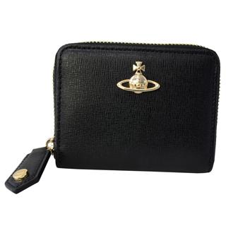 Vivienne Westwood ヴィヴィアンウエストウッド 51080001 40153 N460 ラウンドジッパー コインケース 小銭入れ コインパースSAFFIANO BLACK ブラック 黒【あす楽対応_関東】