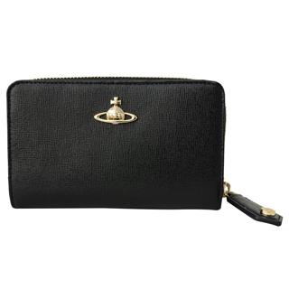 Vivienne Westwood ヴィヴィアンウエストウッド 51080002 N459 二つ折り 財布 折りたたみ 財布 SAFFIANO BLACK ブラック 黒【あす楽対応_関東】