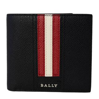 バリー 財布 6218013 TEISEL.LT 10 二つ折り 財布 折りたたみ 財布 BALLY STRIPE バリーストライプ BLACK ブラック 黒【あす楽対応_関東】