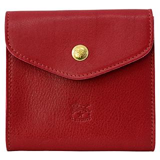 IL BISONTEC0424 P 245 Rosso レッド Wホック 三つ折財布 ダブルフラップ折財布【あす楽対応_関東】