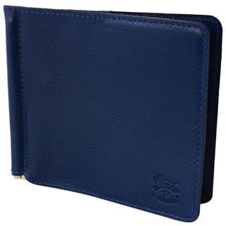 イルビゾンテ 財布 二つ折り財布C0471 866 Blu ダークブルー レザーカバー付きマネークリップあす楽対応FTK1c3ulJ5