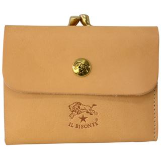 イルビゾンテ 財布 三つ折財布 C1114 120 Naturale ナチュラルガマ口付きお財布 【あす楽対応_関東】