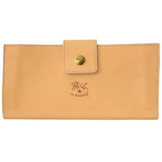 イルビゾンテ 財布 二つ折り財布 C1122 120 Naturale ナチュラルフラップロングウォレット【あす楽対応_関東】