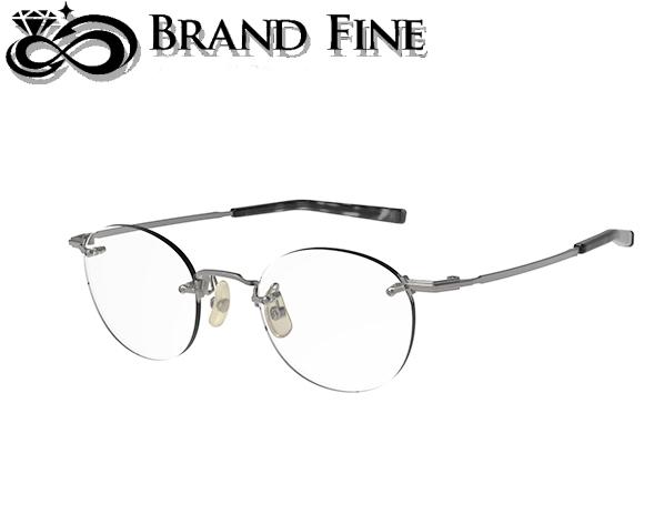 お買い得 新品 未使用 フォーナインズ 999.9 眼鏡フレーム 2020A/W新作送料無料 TW-11T アンティークシルバー 純正ケース付 メガネ 4 ツーポイント